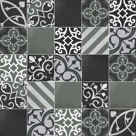 artisan tile Melange Chocolate / Clay C716-25 Melange #25 Forest / Black 1000mm x 1000mm (Set of 25 pieces of 200mm x 200mm tiles)