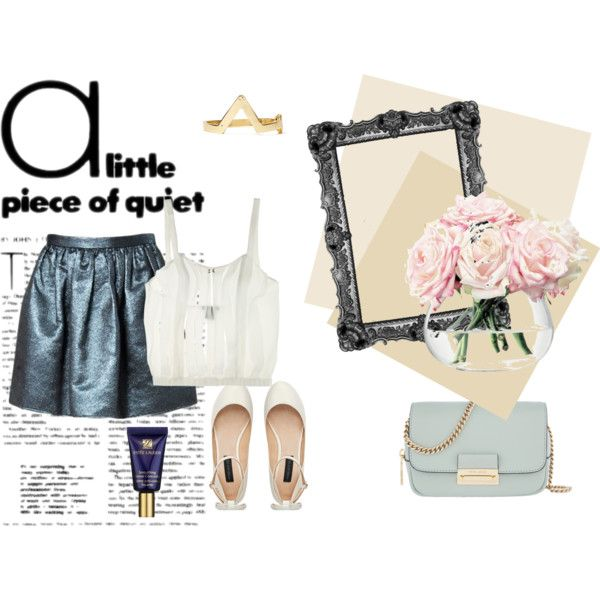 blue and white outfit <3 by elenalovesu on Polyvore featuring Opening Ceremony, The Lake & Stars, Forever New, Henri Bendel, Estée Lauder and LSA International