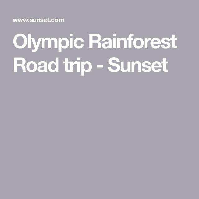 Olympic Rainforest Road trip - Sunset