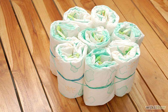 3 Ways to Make a Diaper Cake - wikiHow