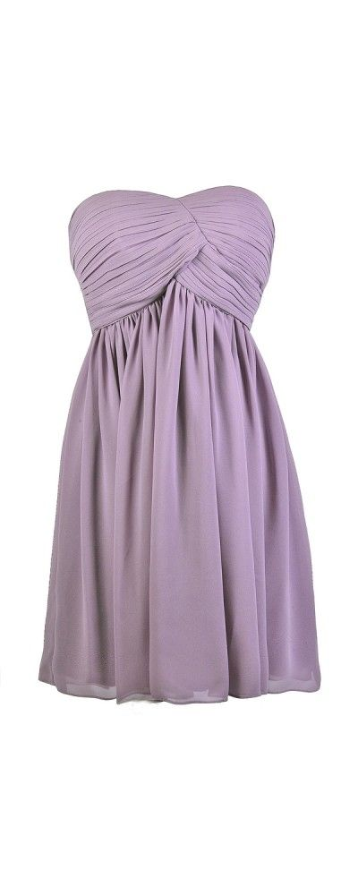 Lily Boutique Always a Bridesmaid Pleated Strapless Dress in Purple, $48 Cute Purple Dress, Purple Bridesmaid Dress, Purple Strapless Dress, Purple Party Dress, Purple Cocktail Dress, Purple Chiffon Dress, Purple A-Line Dress www.lilyboutique.com