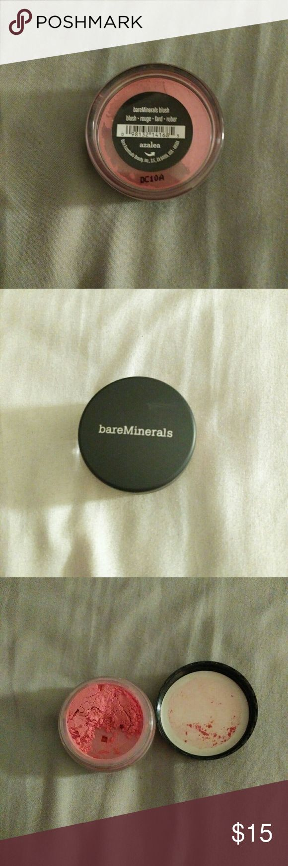 BareMinerals Blush Opened but unused. Color: azalea. Color is accurately shown in picture 3. bareMinerals Makeup Blush