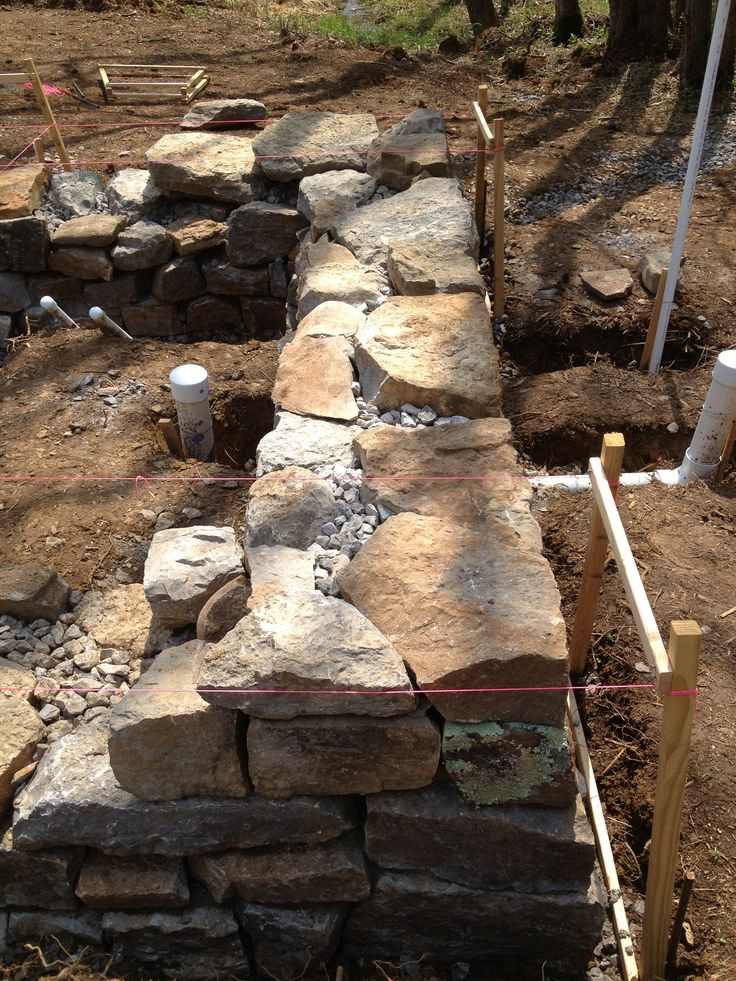 Granite Stone Foundation : Online cob house building lessons http members