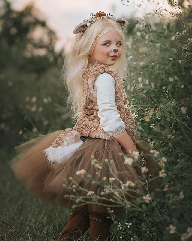 Fawn kids costume www.hellobohobabe… $45-$75 for vest & tail set