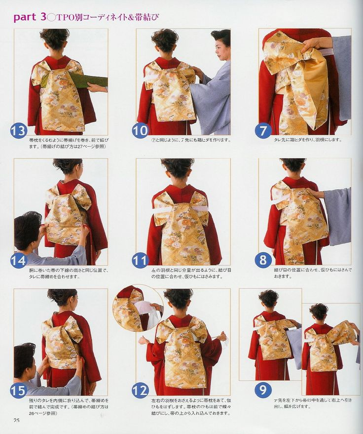 How to tie an obi Part 2