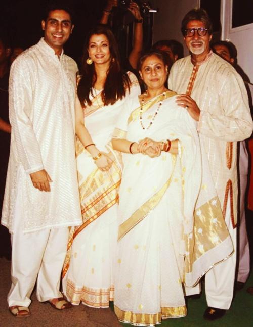 Aishwarya Rai Sarees Abhishek Bachchan Jaya Bachchan Amitabh Bachchan