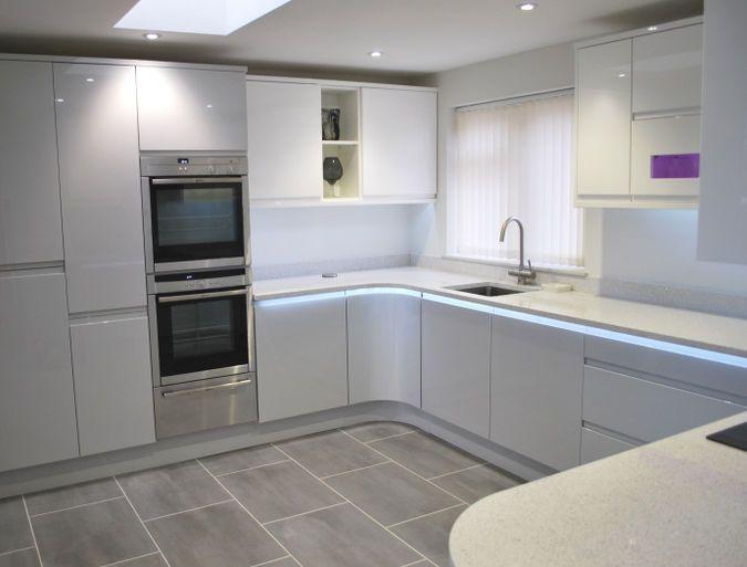 Best Remo Dove Grey White Kitchens By Dexter Kitchen Gray 400 x 300