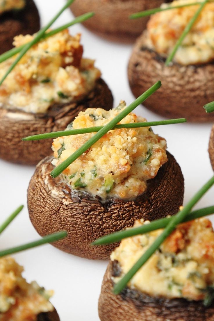 Mouth-Watering Stuffed Mushrooms Stuffed with Cheese and Garlic Recipe!