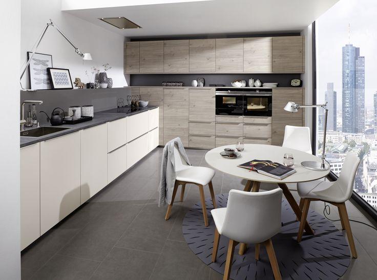 Artwood - Bough oak platinum / Feel Sahara soft mat #nolte #german #kitchen #inspiration #ideas #modern #contemporary #Yorkshire