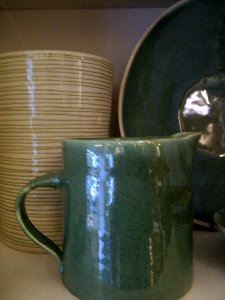 Emerald jug bowl and vase, all from Wonkiware available at Blink