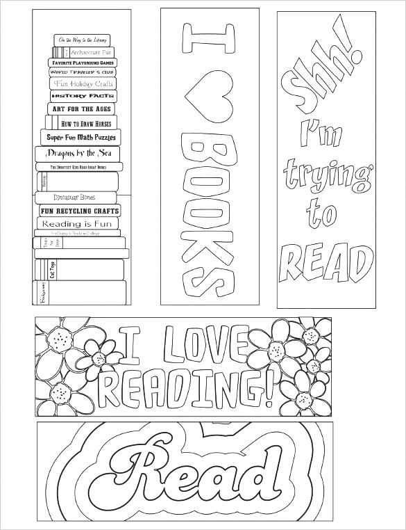 Bookmark Coloring Pages Bookmark Coloring Bookmark Coloring ...