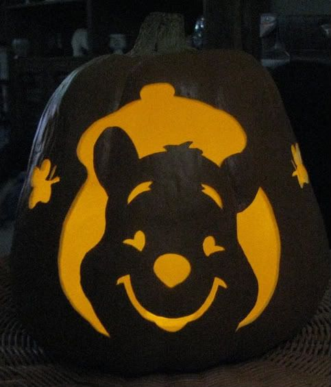 25 best halloween images on pinterest halloween pumpkins for Winnie the pooh pumpkin carving templates