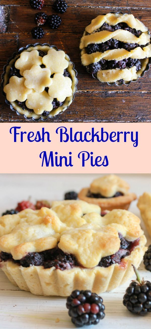 Fresh Blackberry Mini Pies, an easy homemade fresh blackberry pie recipe. The best mini pie dessert made with a flaky pie pastry and delicious filling/anitalianinmykitchen.com