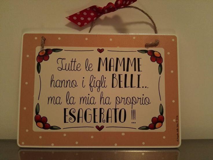 TARGA SIMPATICA PER LA MAMMA