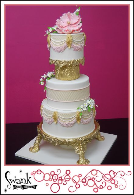 How To Make A Faux Wedding Cake Gumpaste Stand Baroque