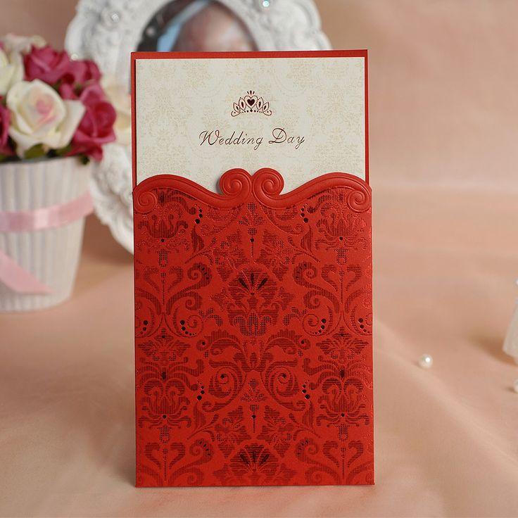 50 stuks rode bruiloft uitnodiging reliëf bruiloft uit te nodigen kaarten met zijde afdrukken foto elegante stijl gepersonaliseerde en afdrukbare(China (Mainland))
