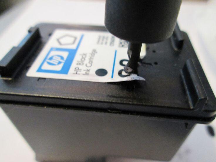 Pennies & Pancakes: Frugality Tip #4: DIY Printer Cartridge Refill ($0.15)