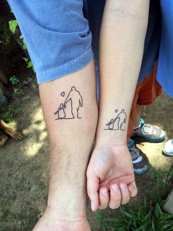 Take your bond and affection to a next level with these adorable father and daughter tattoos designs. A father-daughter relationship is one of the most