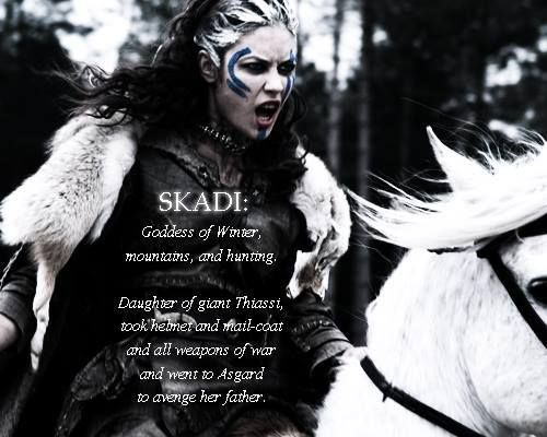 norse mythology skadi - Google Search of i have a girl I would like to name her this. Plus Winter is my favorite season.