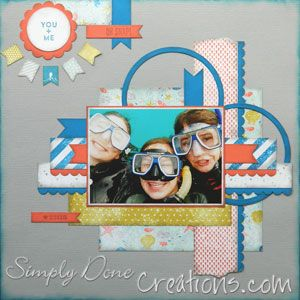 Layout Oh Snap - I used the new Stampin' Up! High Tide DSP - and Banner Blast stamp set and punch from 2014 Sale-A-Bration - love the nautical theme