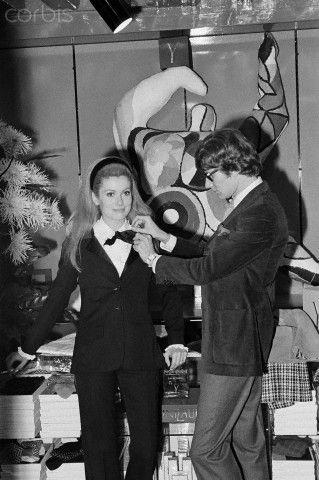 Catherine Deneuve Modelling for Yves Saint Laurent 1966