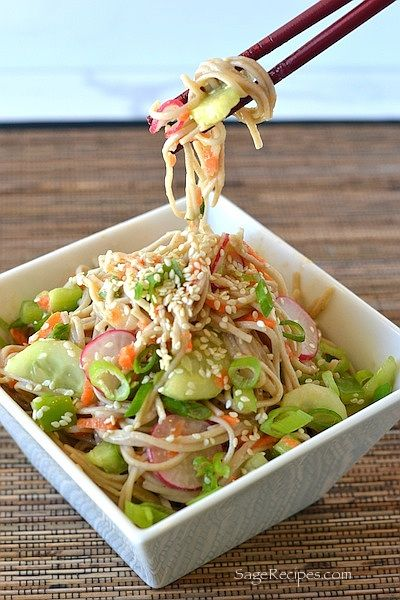 Soba Noodle Salad with Miso Dressing