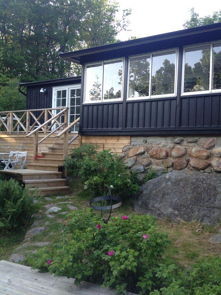 Black summerhouse