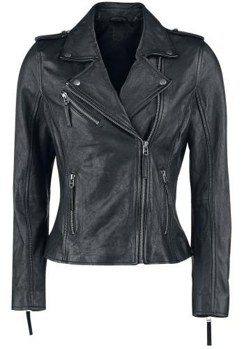 Skull Leather Jacket - Lederen jas van Black Premium by EMP