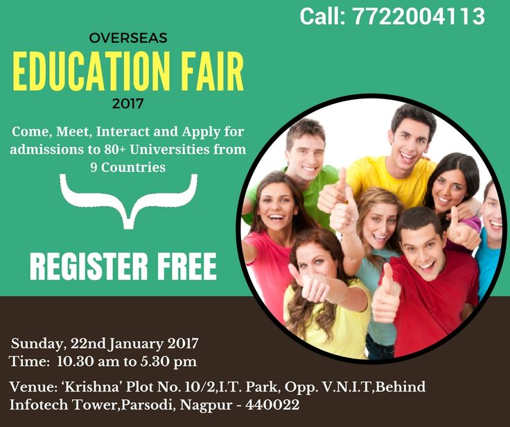 Attend Overseas Education Fair 2017 at Nagpur. Apply Now: http://www.studies-overseas.com/overseaseducationfair/