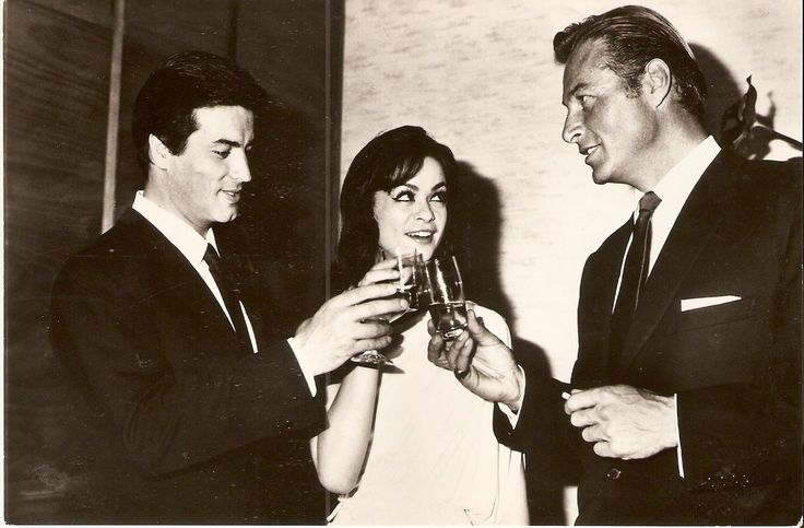 Pierre Brice with Marie Versini and Lex Barker in the sixtees...