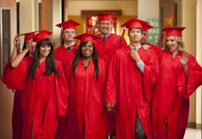 glee goodbye photo gallery | Yes, they graduated. But all Glee cast members will return for Season ...