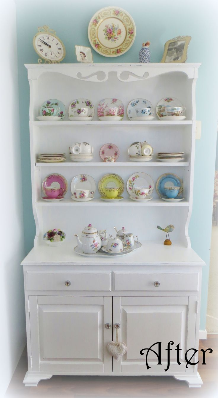 Recycled hutch dresser at www.roseandsunday.co.nz