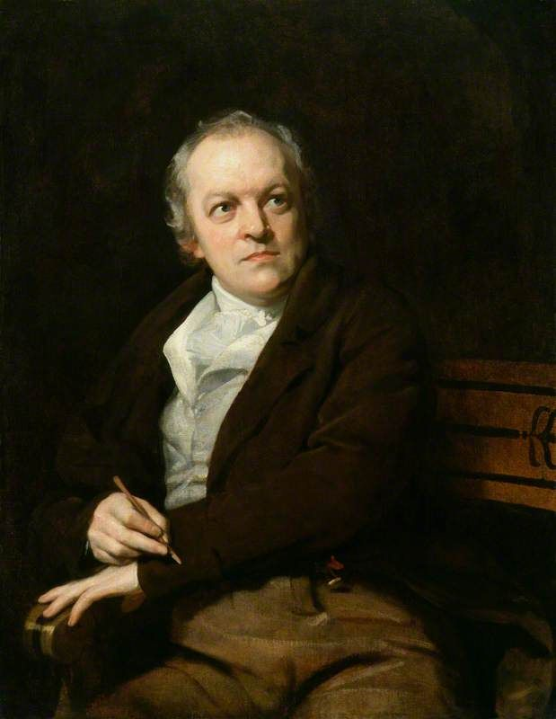 """Portrait of William Blake, 1807 by Thomas Phillips (British, 1770-1845).....William Blake was an English poet, painter, and printmaker. Largely unrecognised during his lifetime, he is now considered a seminal figure in the history of the poetry and visual arts of the Romantic Age. Died: August 12, 1827 - """"If the doors of perception were cleansed everything would appear to man as it is, infinite."""""""