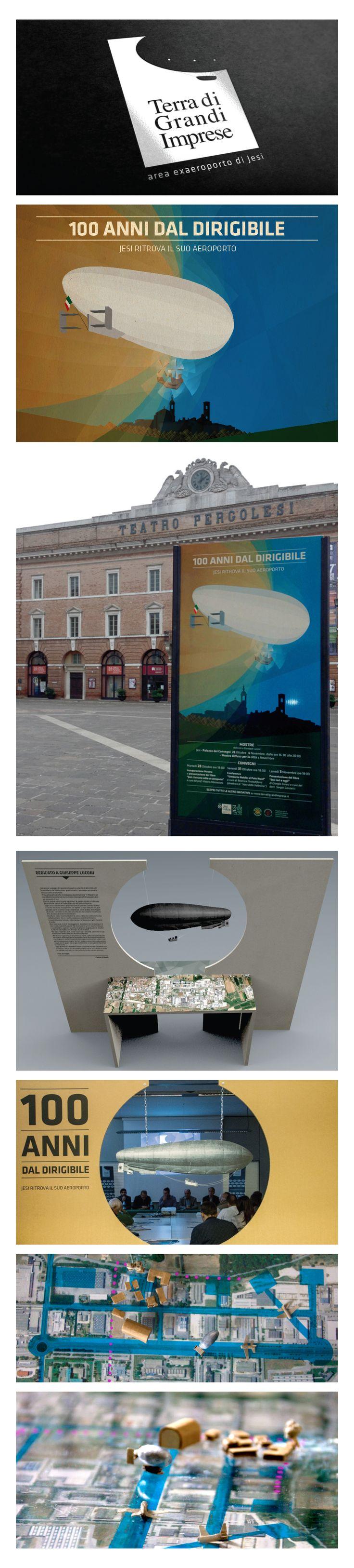Terra di Grandi Imprese Visual identity mostra di apertura progetto