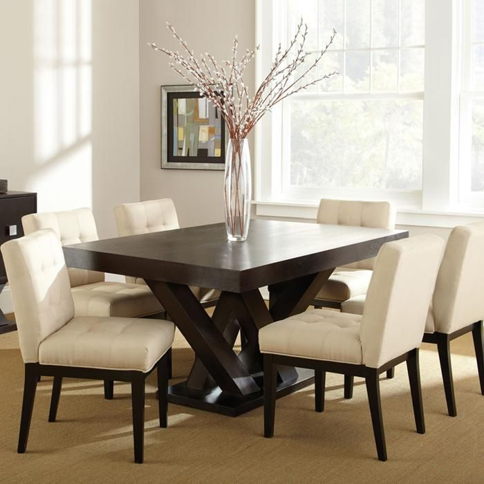 Nebraska Furniture Mart Steve Silver Co Tiffany 7 Piece Dining Set