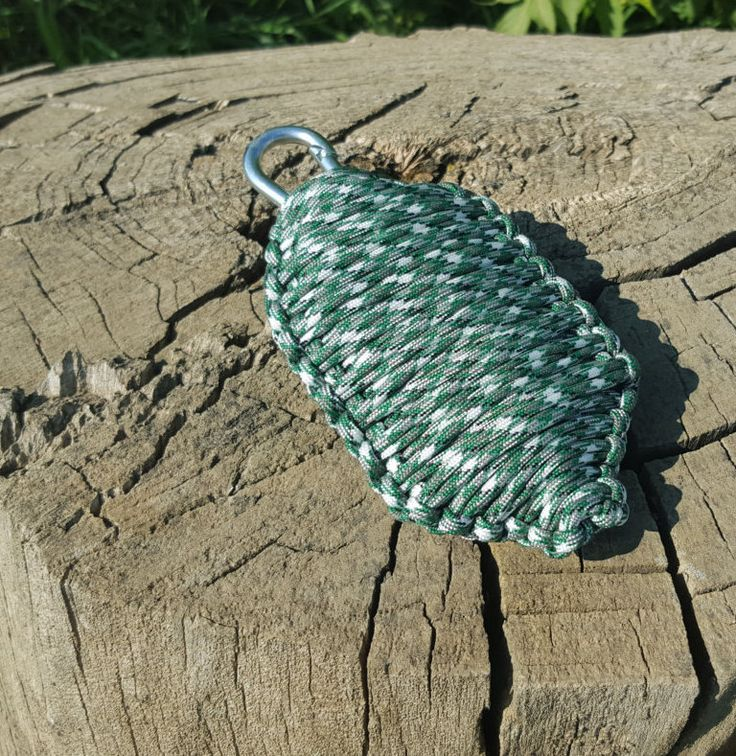 Kelly Green Camo Paracord Emergency Survival Grenade by BrodsParacord on Etsy