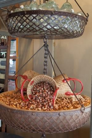 A cornucopia of mixed nuts in the turnstiles. Donovans Restaurant