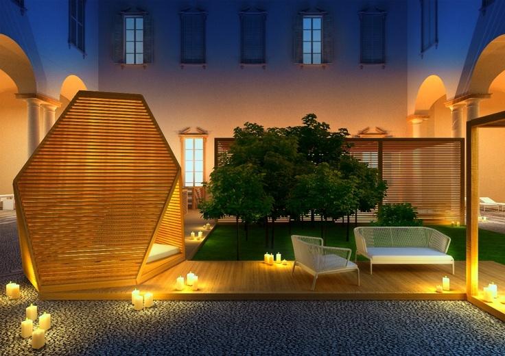 Ludovica+Roberto Palomba design the display of the BRERA OUTDOOR VILLAGE@Palazzo Cusani, Brera