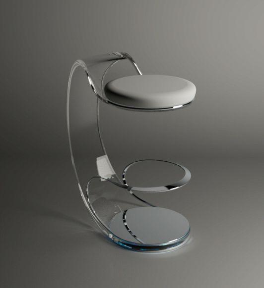 Acrilico stool by Fabio Besti