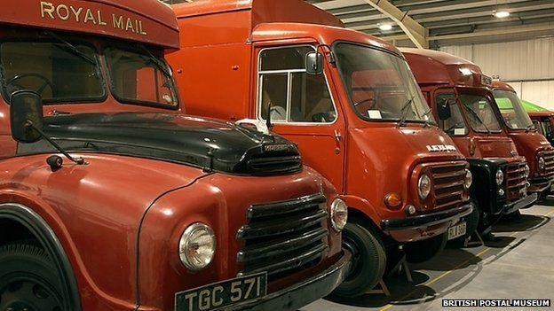 In a building on the outskirts of London in Debden, Essex, sits a fine collection of postal vehicles and postboxes. Although it is popular enough on its own, there is also an archive. Currently housed in central London, it offers an almost unrivalled collection of items reflecting Britains social history from the 17th Century to the present day. Most of this is hidden away but there are ambitious plans to open a new Postal Museum in London. - BBC News, 29 March 2013