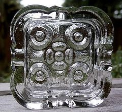 Mid Century Modern, Scandinavian (Kosta Boda or Pukeberg, Sweden) very heavy glass ashtray