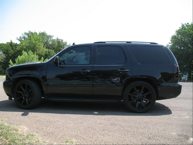 murdered out tahoe: Chevy Gmc Trucks, Suv, Dream Cars