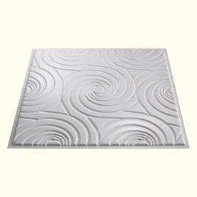 Gloss White 15/16-in Drop Mold and Mildew Resistant Ceiling Tiles (Common: 24-in x 24-in; Actual: 23.75-in x 23.75-in)