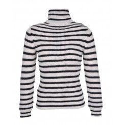 IRO Seely Roll Neck Sweater Ecru and Black