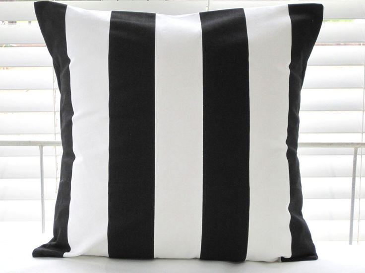 ikea vargyllen cushion cover 20x20 black white stripes accent pillow fs new ebay. Black Bedroom Furniture Sets. Home Design Ideas