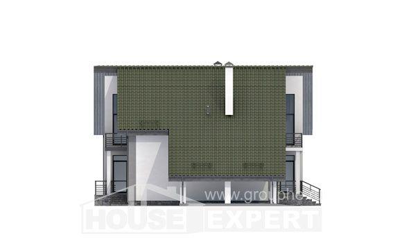 170-009-Л Проект двухэтажного дома с мансардным этажом, гараж, недорогой дом из арболита