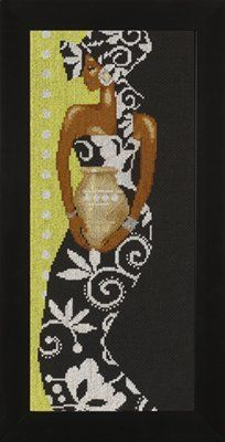 African Lady With Vase - Cross Stitch Kit