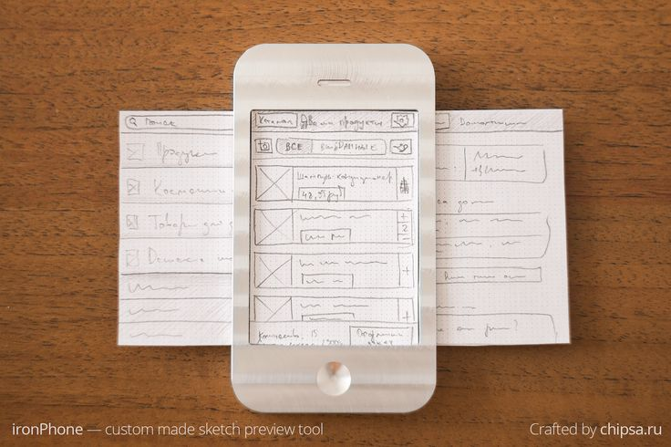 A smart and fun little tool for paper prototyping mobile apps, the 'Ironphone'.