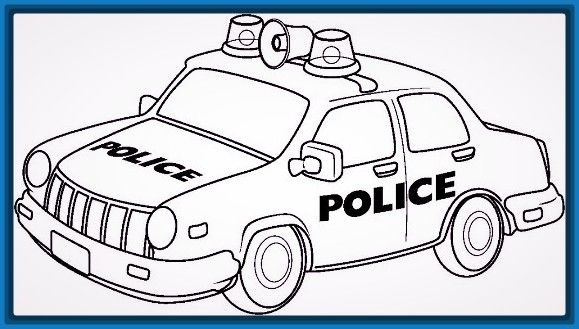 5 Anos Dibujos De Policias Carros Para Colorear Paginas Para
