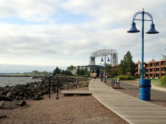 LakeWalk Duluth Minnesota Today is a perfect day for the beast to ride his bike. #wearoffwinterenergy